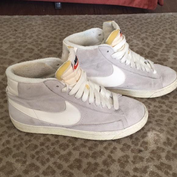 Nike- Blazer Mid Vintage Sneakers- Grey